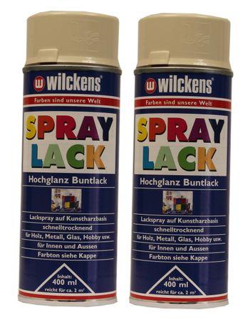 2 x Wilckens Spraylack Hochglanz Buntlack 400ml – Bild 1
