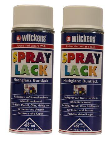 2 x Wilckens Spraylack Hochglanz Buntlack 400ml – Bild 2