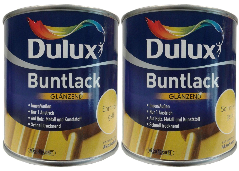 2 x 500 ml Dulux Buntlack Glänzend innen /außen 1 L Farbwahl