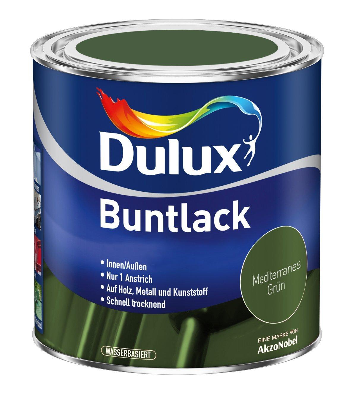 5 x 500ml Dulux Buntlack Seidenmatt für innen und außen 2,5 Liter Farbton Wählbar