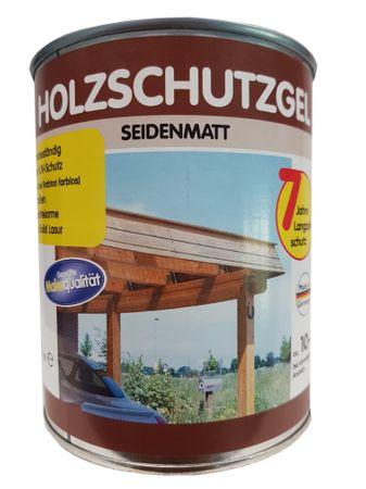 Wilckens High Solid Langzeit Holzschutzgel 7 Jahre Langzeitschutz für außen lösemittelhaltig Seidenglänzend farbton wählbar 750 ml – Bild 1