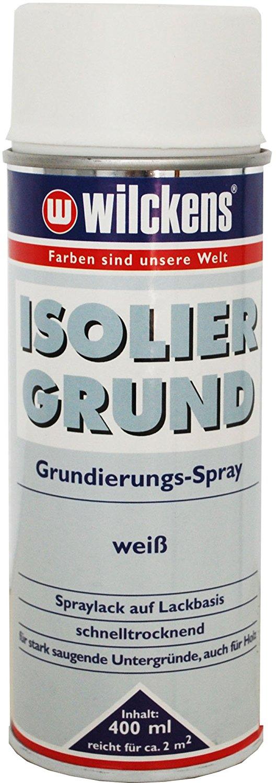 2 x Wilckens Isoliergrund Grundierungs-Spray für innen und außen Weiß 800 ml