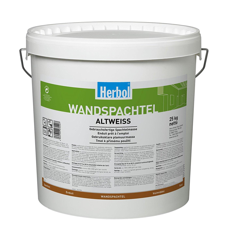 Herbol Wandspachtel Altweiss, 25 Kg