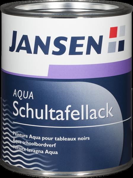 JANSEN Aqua-Schultafellack Schwarz Matt 0,75 Liter