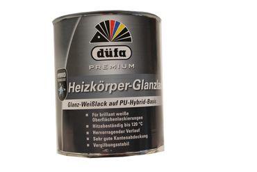 Düfa Premium Heizkörper- Glanz-Weißlack auf PU -Hybrid Basis 0,75 L