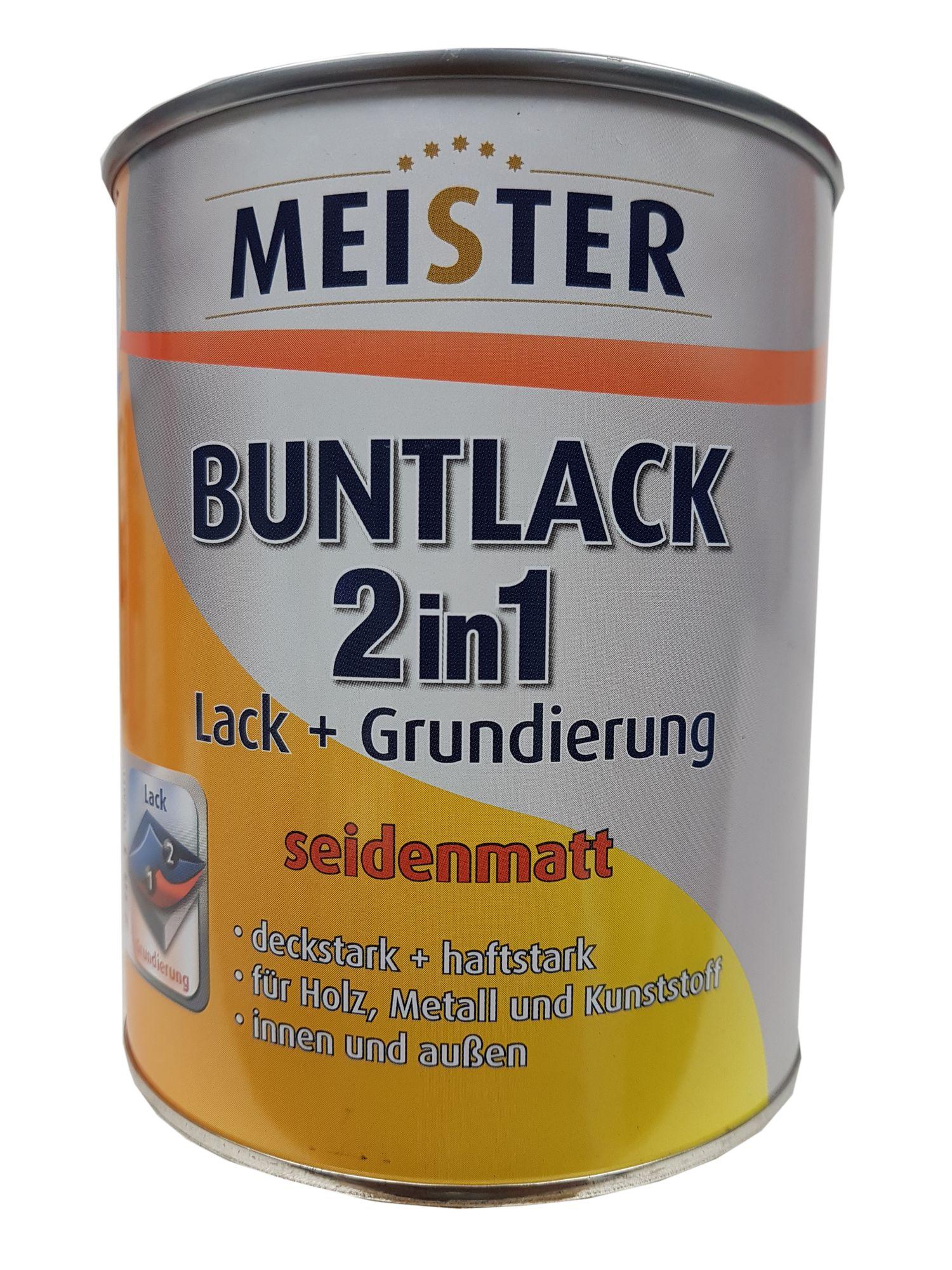 Meister Buntlack 2 in 1 Lack + Grundierung innen/außen Seidenmatt 0.75 l Farbton wählbar