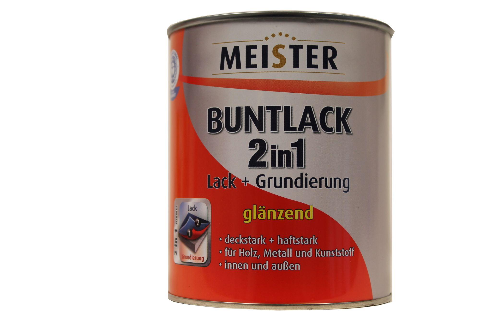 meister buntlack 2in1 lack+grundierung innen&außen glänzend 0.75 l