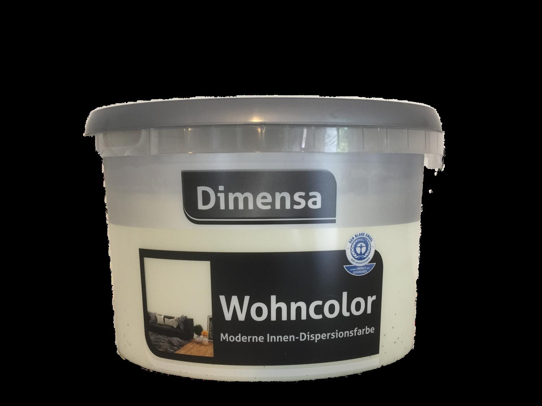 Dimensa Wohncolor Wandfarbe Moderne Innen- Dipersionsfarbe Matt Farbwahl 2,5 Liter