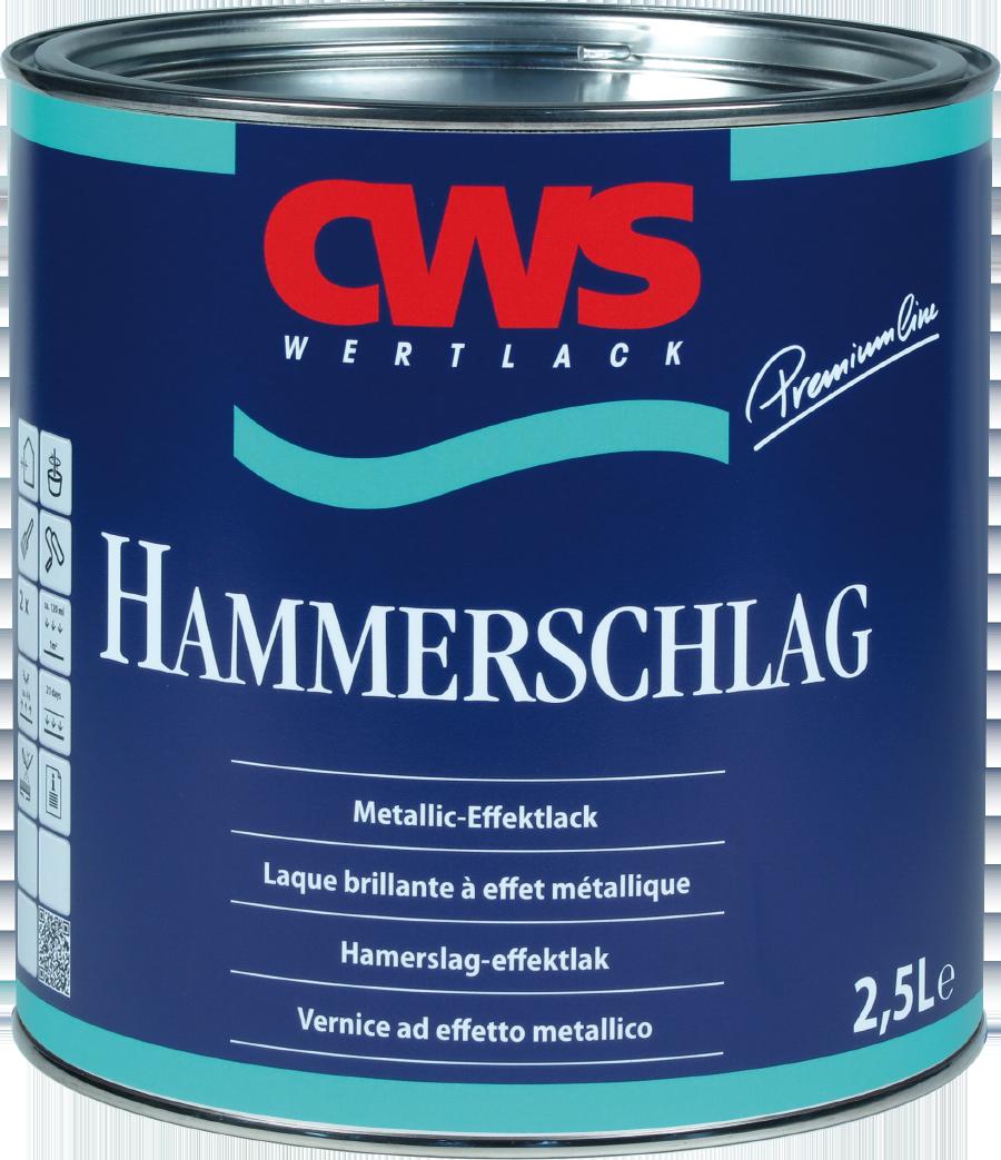 CWS WERTLACK Hammerschlag-Lack Metallic Effektlack Glänzend 2,5 L Farbwahl
