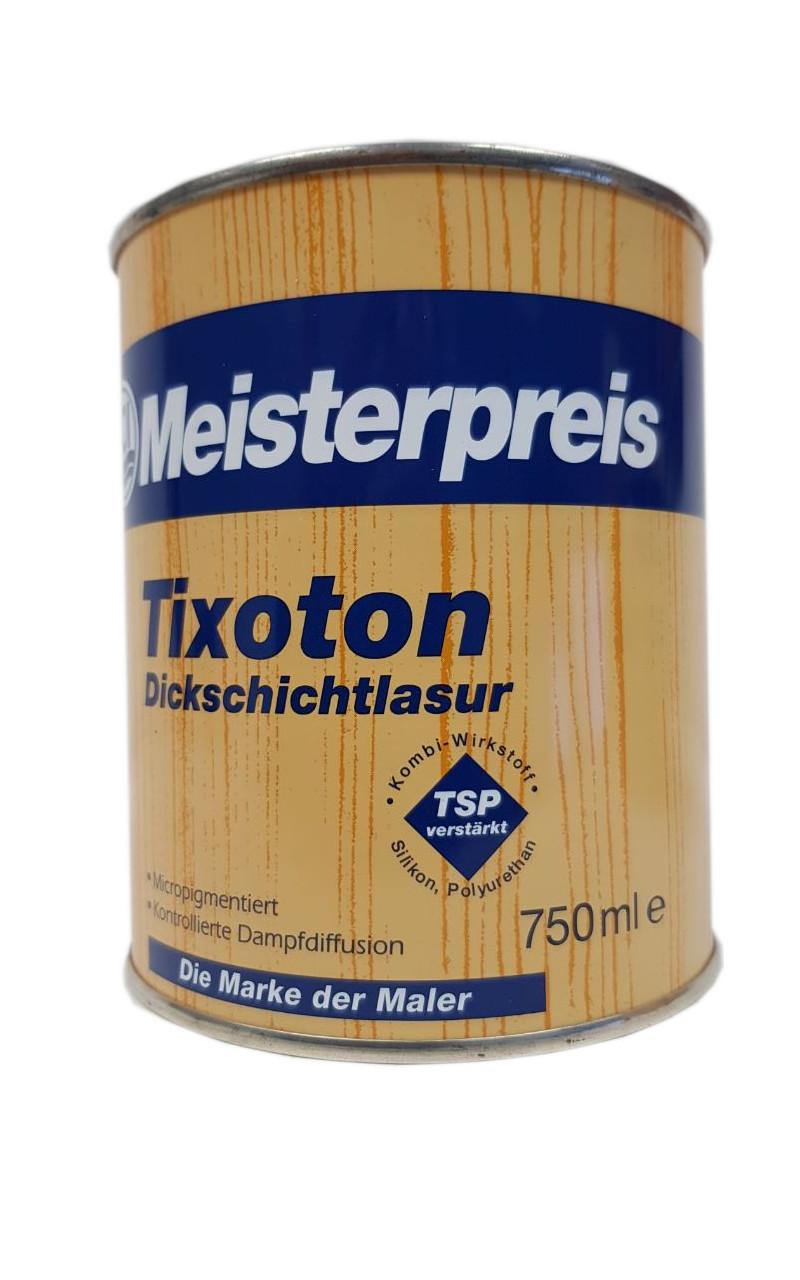 Meisterpreis Tixoton Dickschichtlasur innen&außen Grau Seidenglänzend 0,75 ml