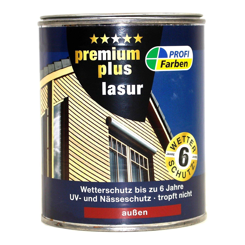 ProfiFarben Premium Plus Lasur Kunstharzlasur Mittelschichtlasur Wetterschutz Farbwahl 2,5 l