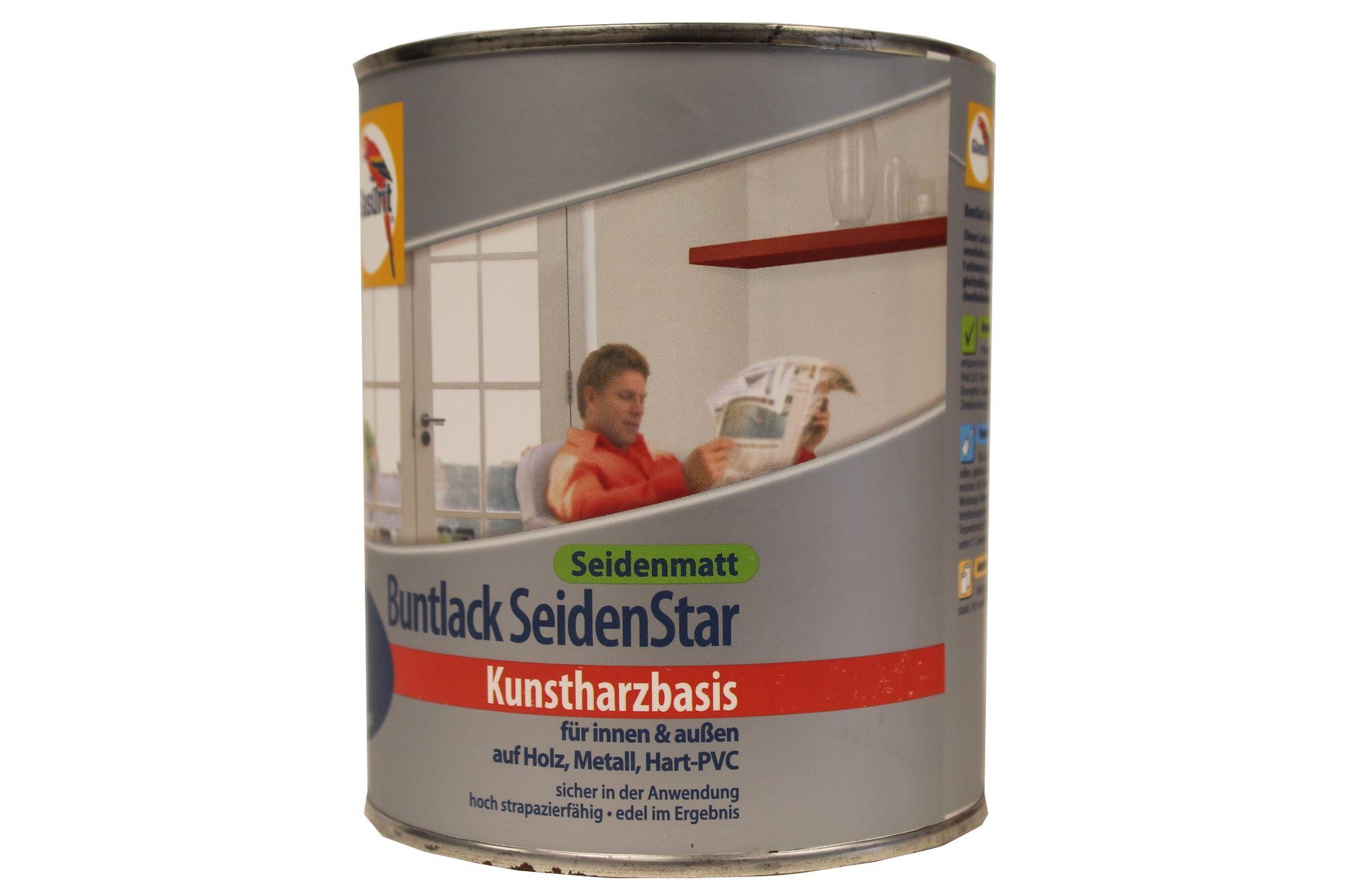 Glasurit Buntlack SeidenStar Seidenmatt Kunstharzbasis 750 ml Farbwahl