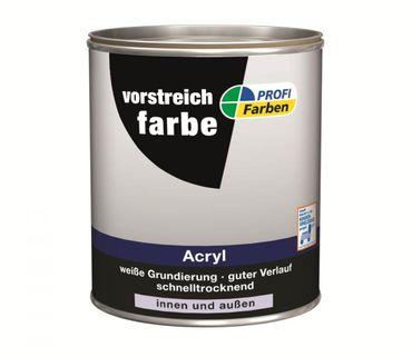 ProfiFarben Vorstreichfarbe Acryl Weiß matt 0,75 L