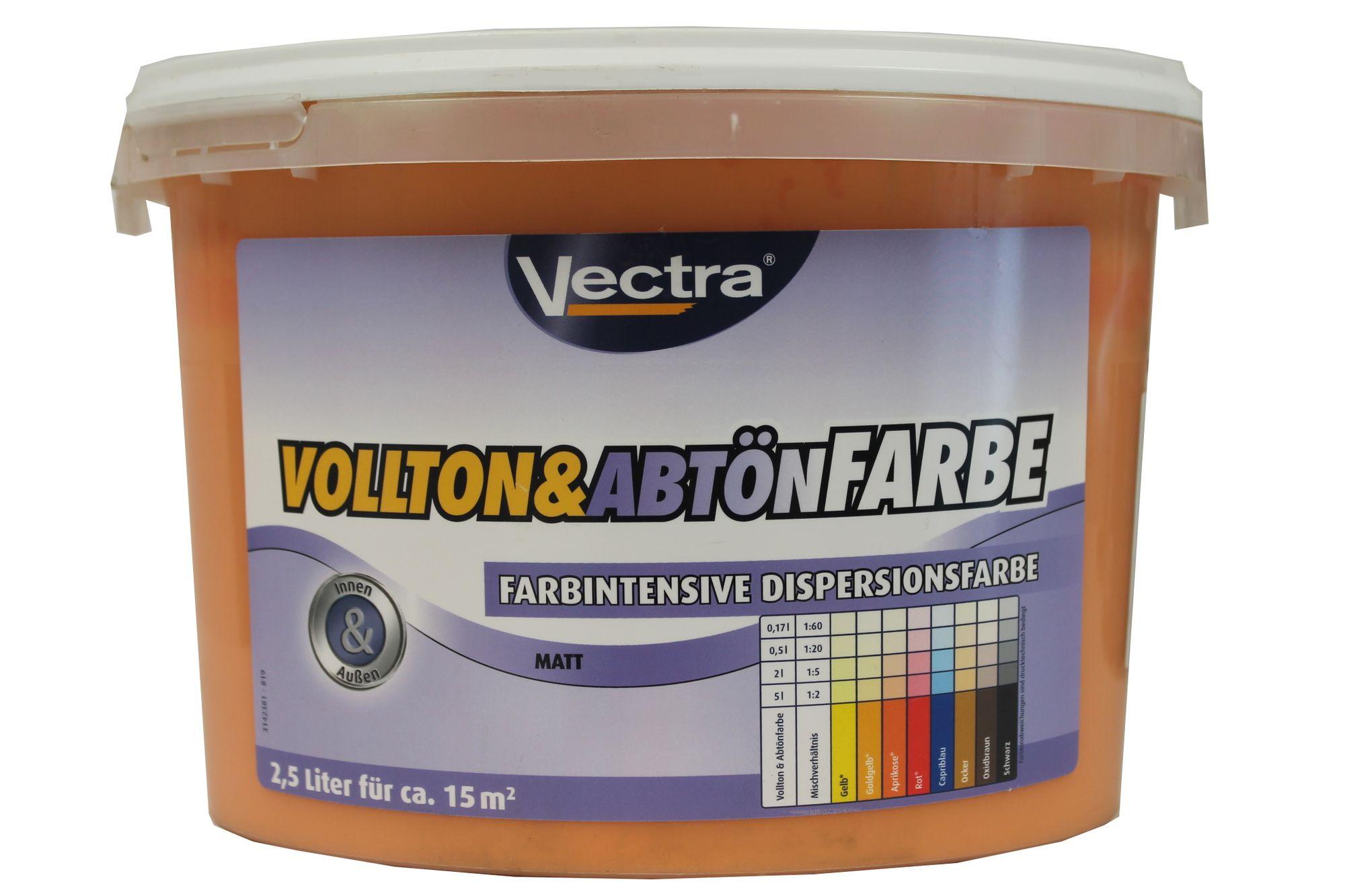 Vectra Vollton Abtonfarbe Farbintensive Dispersionsfarbe Innen