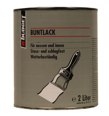 2x 2 Liter Budget acrylharz Buntlack Außen und Innen Seidenmatt leichter Flugrost/Beule Farbwahl 4 Liter