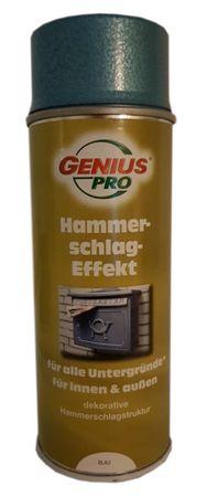 2x  0,4 L Genius Pro Hammer-Schlag-Effekt Blau 0,8 L