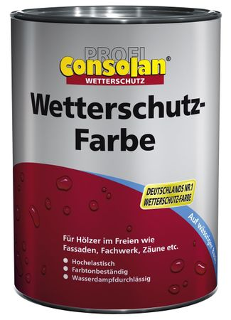Consolan Profi Wetterschutzfarbe RM 209 schwarz 2,5 Liter