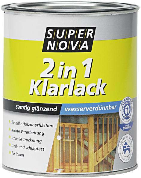 Super Nova 2in1 Klarlack Lösemittelhaltiger Samtig glänzend farblos 2,5L