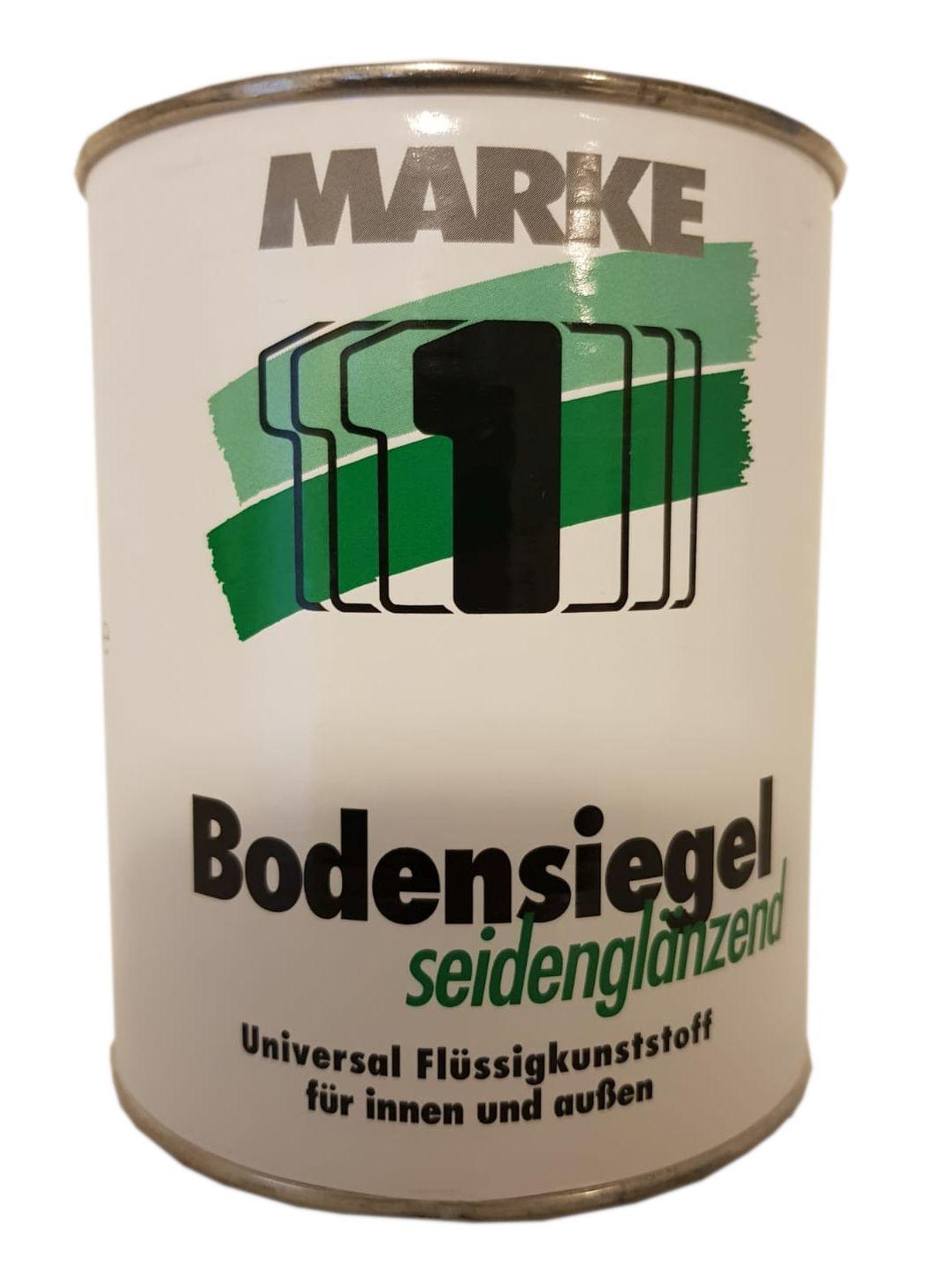 Marke 1 Bodensiegel Seidenglänzend Lösemittelhaltig Lichtgrau 0,75 Liter Innen & Außen
