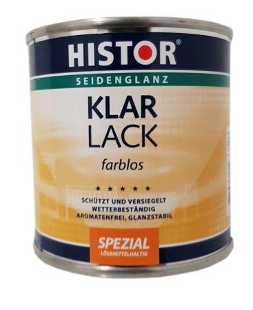 Histor Klarlack (Lösemittelbasis) Innen/Aussen Seidenglänzend  Farblos 2,5 Liter