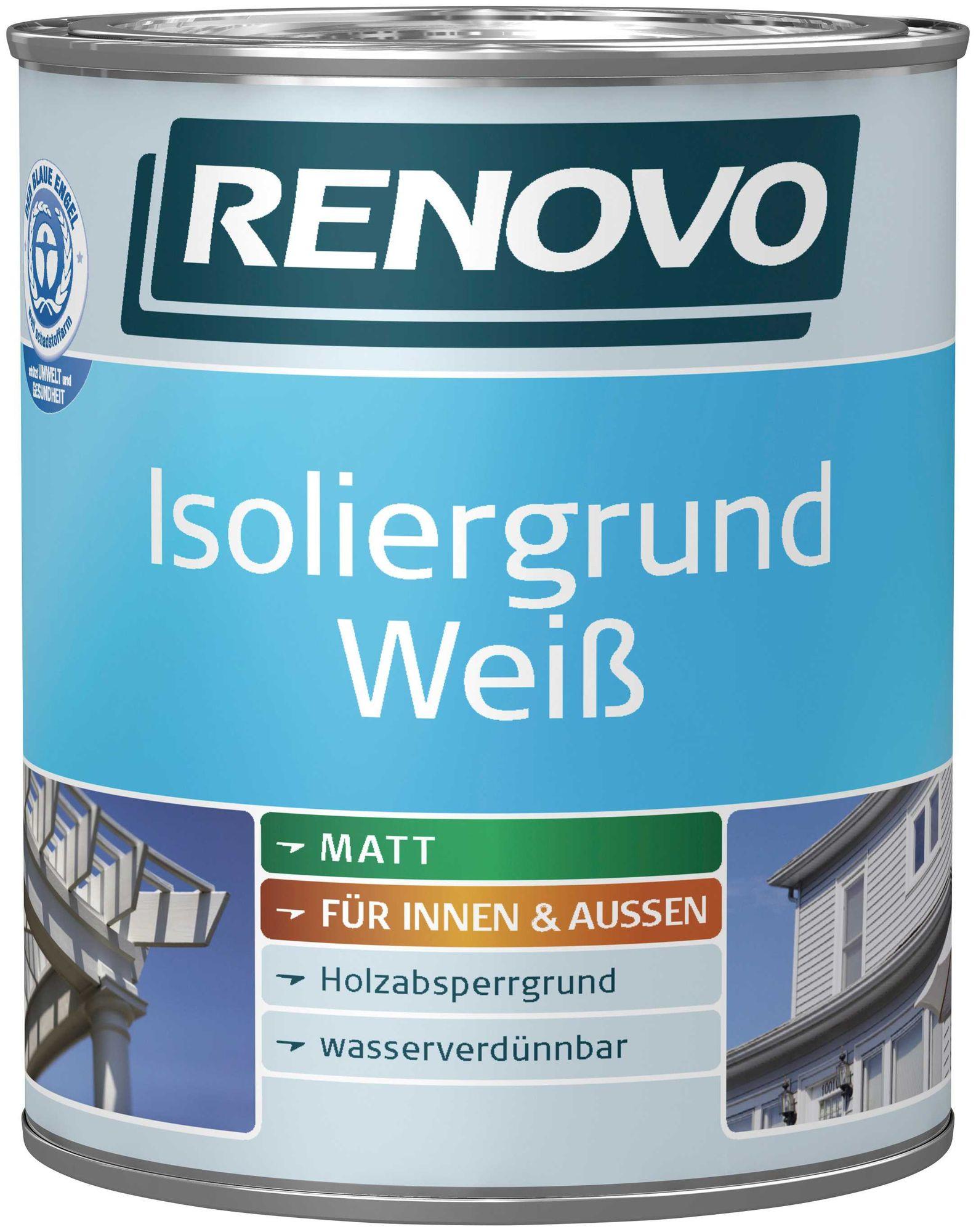 Renovo Isoliergrund Weiss Holz 2,5 L Innen/außen