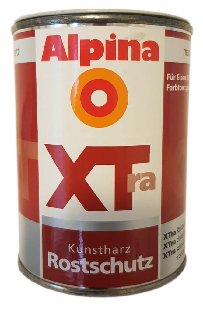 Alpina XTra Kunstharz Rostschutz matt grau innen&außen lösemittelhaltig 0,5 L