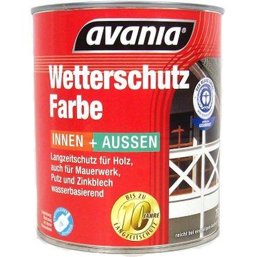Avania Langzeitschutz  Acryl-Basis Wasserbasierend Wetterschutzfarbe Schokoladenbraun innen & Außen  0,75 Liter