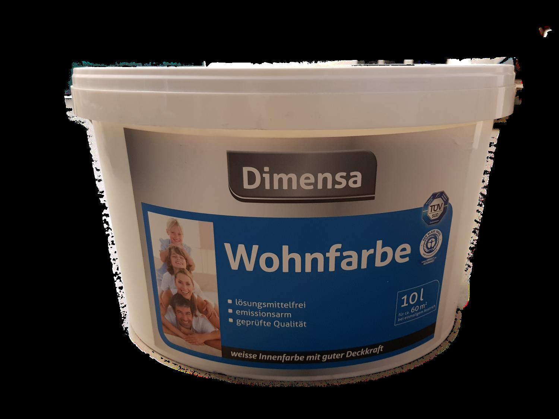 Dimensa Wohnfarbe Weiß Innen 10 Liter (leichte Beule)