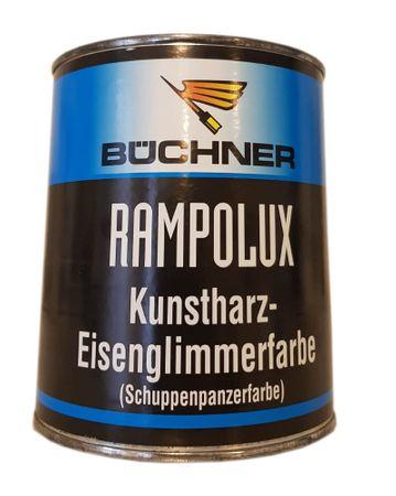Büchner Rampolux Kunstharz - Eisenglimmerfarbe Schuppenpanzerfarbe  Silbergrau 0,75 L