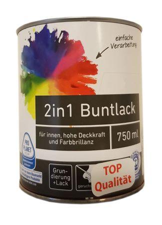 Ostendorf 2in1 Reinacrylat Buntlack innen glänzend 0,75 L Farbwahl