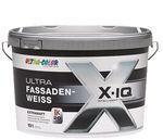 Ulra Color X-IQ Fassadenfarbe Hybrid-Formulierung auf Basis einer Silikonharz-Acrylat-Kombination Selbstreinigender Abperleffekt Weiß Extramatt 10 Liter  001