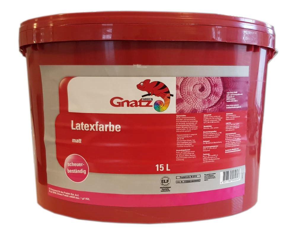 Gnatz Latex Matt Wandfarbe  ELF Weiß 15 Liter