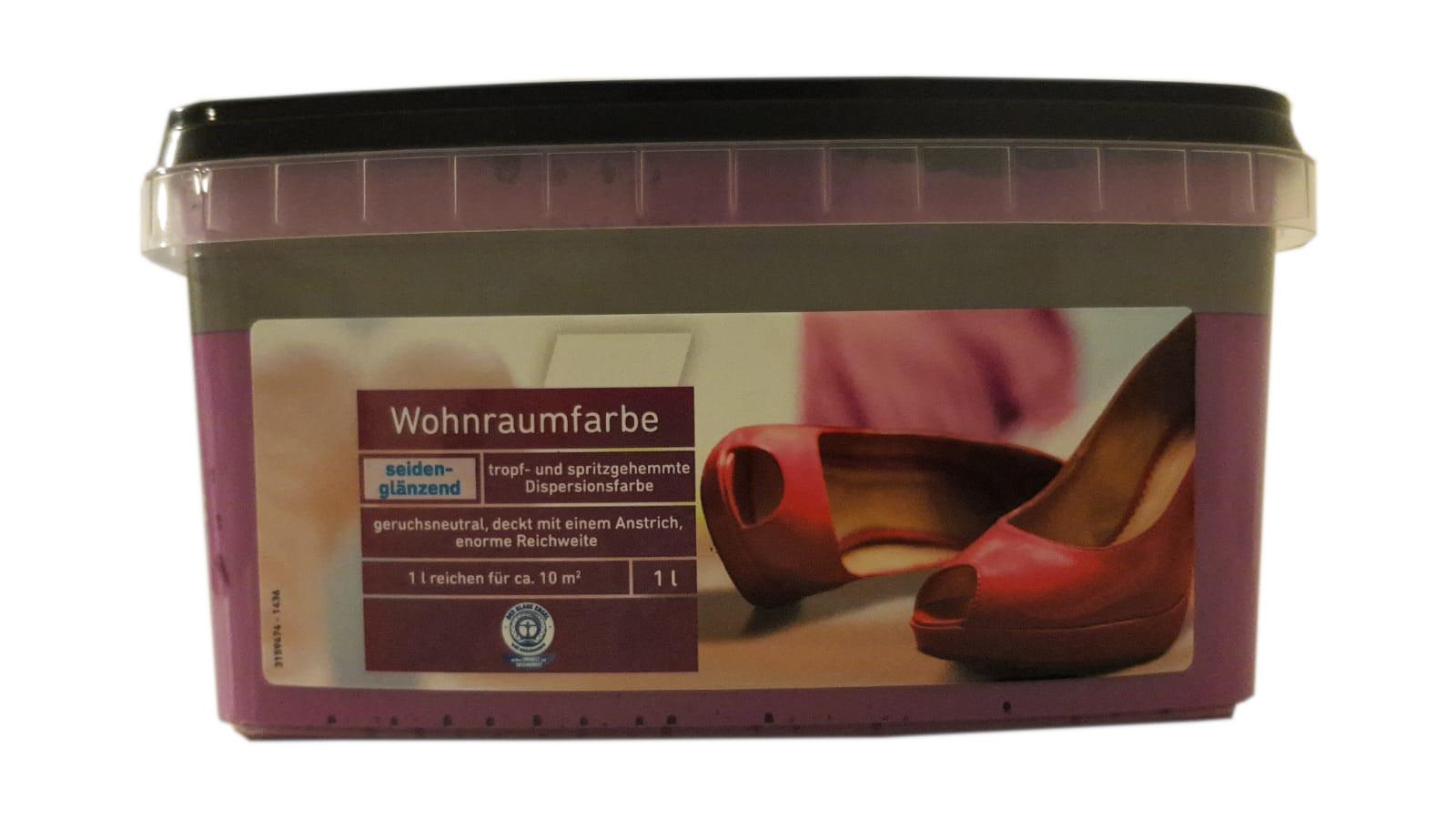 2x1 L  Farbige Hochleistungs-Bunte Wandfarbe  mit extrem hoher Ergiebigkeit seidenglänzend 2 L Farbwahl