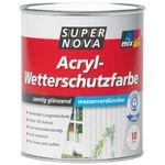 Super Nova Acryl-Wetterschutzfarbe Samtig Gläzend Dunkelbraun 2,5 L 001