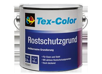 Tex Color Rostschutz Grund Matte Antikorrosive Grundierung für innen und außen Weiß 2,5 L