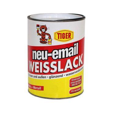 Tiger neu-email Acryllack Weisslack Weiss 231 glänzend 0,75l
