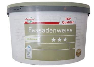 Genius Pro Fassadenweiss Fassadenfarbe  Seidenmatt 2,5 Liter