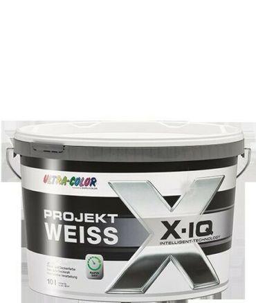 2x5 L Ultra Color Protect Weiss  Wand- und Deckenfarbe Deckvermögensklasse 1 Extramatt 10 L