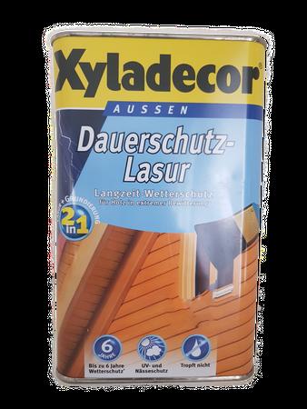 Xyladecor Dauerschutzlasur Holzschutzlasur 2in1 aussen 2,5 Liter Farbwahl (beule)