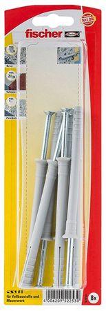 3x6 Stck Fischer Nageldübel N 8x120 ZK (Art.Nr. 52254) 18 Stück