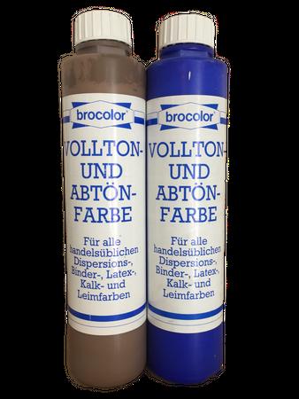 2x750 ml brocolor Vollton- und Abtönfarbe 1,5 Liter Farbwahl