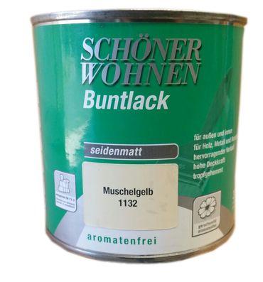 Schöner Wohnen Buntlack 1132 Muschelgelb Seidenmatt 0,75 ml