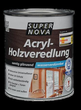 Super Nova Acryl-Holzveredlung samtig glänzend farblos Innen/Außen 0,75 L (Verbeult)