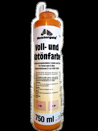 4 x 750 ml Meistergold Voll- und Abtönfarbe innen & außen 3 L  Matt Farbwahl – Bild 2