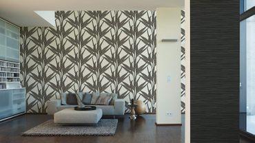 A.S. Création Vliestapete Mustertapete braun-schwarz 0,53m x 10,05m  – Bild 7