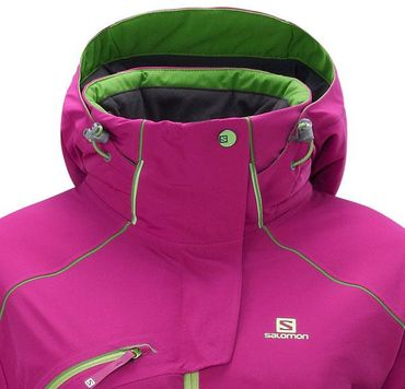 Salomon SPEED Damen Snowboard Skijacke Lila  – Bild 3