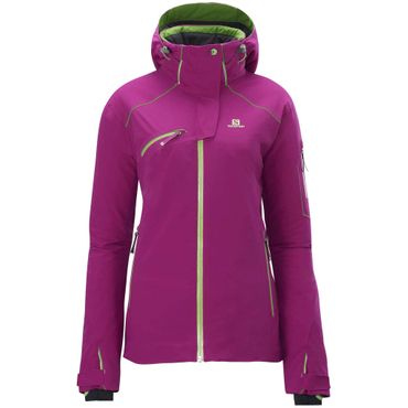 Salomon SPEED Damen Snowboard Skijacke Lila  – Bild 1