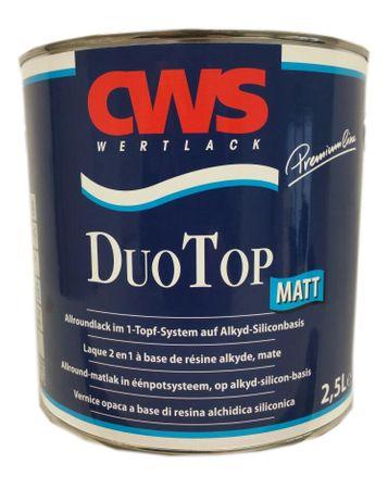 CWS CD Color DuoTop Matt Allroundlack auf Ein-Topf-System Weiß Matt 2,5 Liter