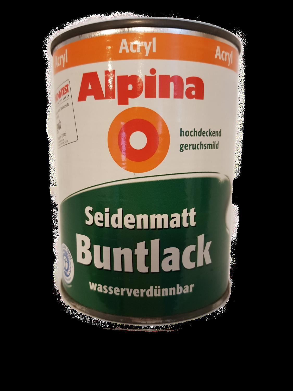 Alpina Acryl Seidenmatt Buntlack außen/innen 0,5 L Farbwahl