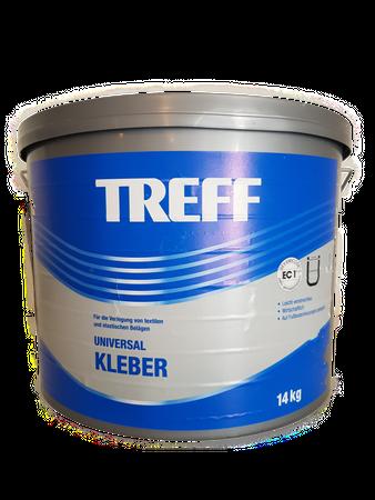 Treff Universal Kleber Dispersionskleber PVC-/ CV-Beiläge, Textile 14 kg